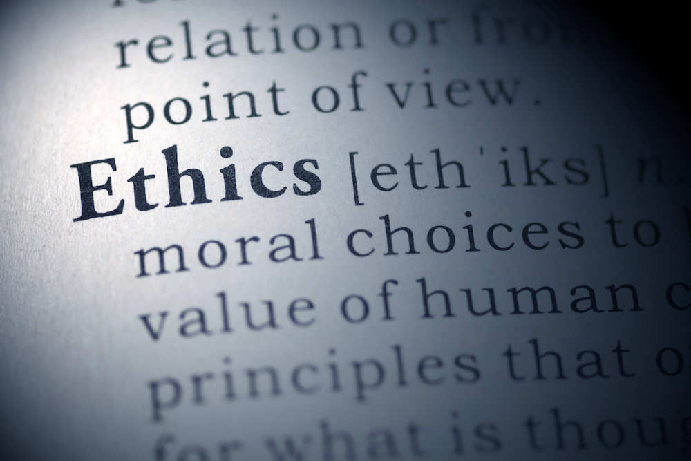 a dictionary page with the word Ethics highlighted